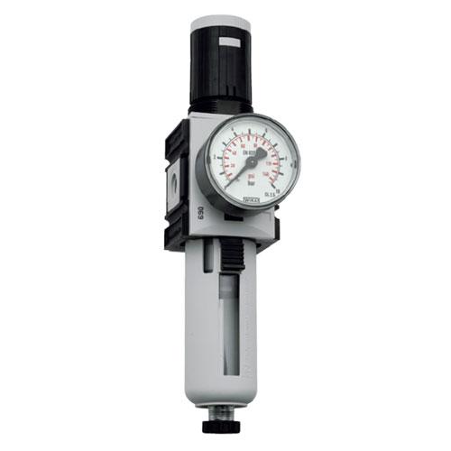 """regulátor tlaku s filtrem Futura 1/4"""", vel.1 uzamykatelný 0,1 až 1,0bar, 2000 l/min."""