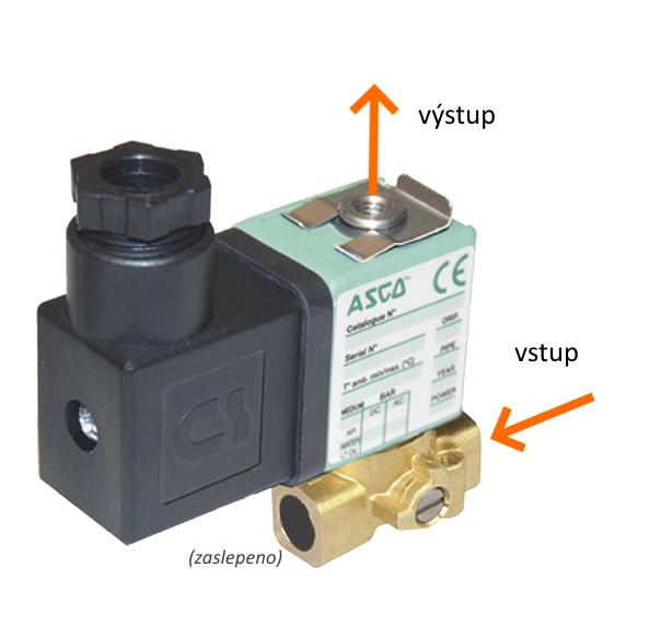 """ventil solenoidový G256NC, 2/2NC, G1/8"""", Js 1,2mm, cívka 24V DC"""