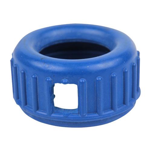 kryt gumový pro manometr 63mm zadní i spodní připojení - modrý